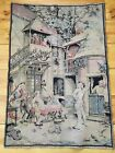 1920's Vintage Tapestry Made in France Victorian style Cafe