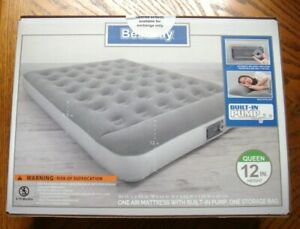 BESTWAY  Air Bed Mattress QUEEN Inflatable With Built In Pump  n Pillow    *NEW*