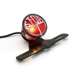 Motorcycle Red Rear Tail Brake Stop Light Lamp For Cafe Racer Chopper Bobber