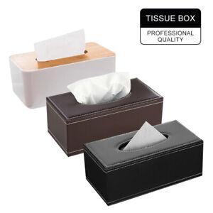 Tissue Box Dispenser Wooden Cover Paper Storage Holder Napkin Case Organizer AU