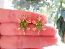 .93 Carat Diamond Yellow Gold Turtle Earrings 18k codeEx94 sep