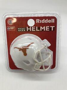 "Texas Longhorns NCAA 2"" Helmet Riddell Pocket Pro Speed Style"