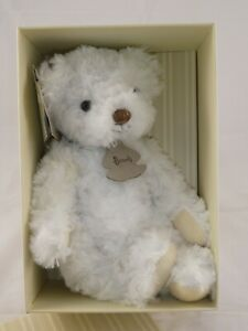 The Harrods Classic Bear Collection.  Small White Teddy Bear