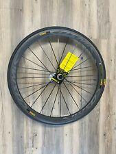 Mavic cosmic pro carbon sl rear wheel clincher shimano 11 rim brake