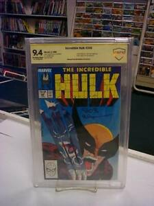 INCREDIBLE HULK #340 Marvel Comics, 1988) CBCS SS Graded 9.4!