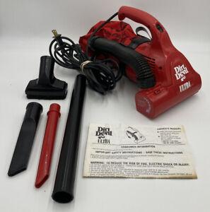 Royal Dirt Devil Ultra VTG Red Electric Hand Vac Handheld Vacuum Cleaner M08230