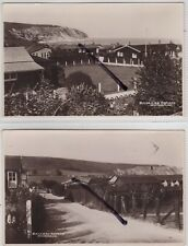 Swanage, Dorset: Social History: 2 Real Photo Postcards of the Ballard Estate