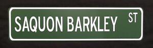 "Saquon Barkley 24"" x 6"" Aluminum Street Sign New York Giants NFL Football"