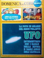 La Domenica del Corriere 16 Dicembre 1973 Disco Volante Ufo Papa Burton Concorde