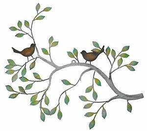24 in Branches w/ Birds Decorative Metal Wall Sculpture