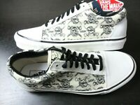 Vans Mens Old Skool 36 Dx Anaheim Factory shoes OG White Black Skulls Size 10