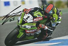 Tom Sykes Hand Signed Kawasaki Racing 12x8 Photo.