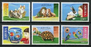 Aruba Domestic Animals Stamps 2018 MNH Pets Cats Dogs Turtles Birds 6v Set