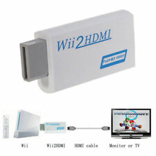 WII TO HDMI / DVI UPSCALING CONVERTER 3.5mm VIDEO AUDIO 720P OR 1080P HDTV
