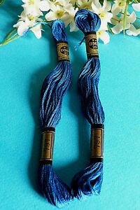 071A/Lovely Lot 2 Skeins Mouliné DMC N° 25 Color Blue N° 797