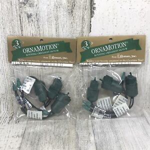 VTG Roman Inc ORNAMOTION Rotating Christmas Ornament Motor - Lot of 2 (3 Pack)