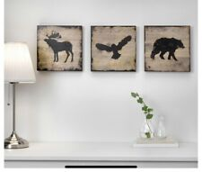 IKEA BJORNAMO KIDS Wall Art Pictures Baby Toddler Children Bear moose eagle