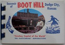 1963 Souvenir Picture Book BOOT HILL Dodge City Kansas Simpson Cowboy Statue