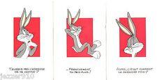 LOT 3 CPs NON ECRITE - BUGS BUNNY / WARNER BROS - 1994 CARTE POSTALE CP