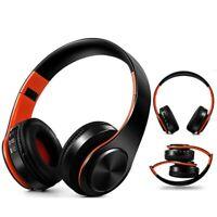 casque sans fil Portable Bluetooth stéréo pliable Audio Mp3 réglable micro TF SD