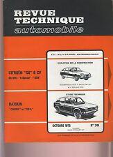 (29A) REVUE TECHNIQUE AUTOMOBILE  DATSUN CHERRY et 120A / CITROEN GS 6CV