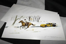 CORVETTE C6 R GT SEBRING 12 HOURS NEW ART PRINT CHRISTMAS NOEL GREETINGS CARD A+