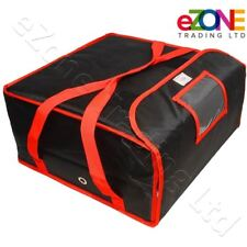 """Pizza Delivery Bag 18""""x18""""x8.5"""" Professional Quality Fully Insulated Heavy Duty"""