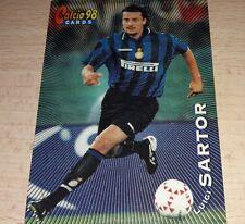 CARD CALCIATORI PANINI 98 INTER SARTOR CALCIO FOOTBALL SOCCER ALBUM