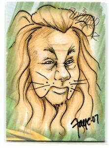 2006 Breygent The Wizard of Oz Sketches Connie Faye Cowardly Lion Sketch 1/1