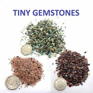 200 Pieces Mini Chips Tiny Gemstones Polished Natural Healing Semi Precious
