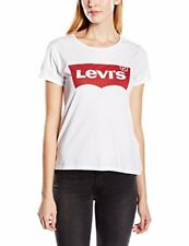 Levis Womens Jeans The Perfect T Shirt Housemark Bright White Red  Batwing