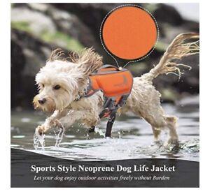 Vivaglory Pet Bright Dog Life Jacket 100% Neoprene Reflective/Adjustable ~Small