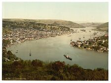 2 Victorian Views Dartmouth Harbour Port Greenaway Ferry Old Photos Posters NEW