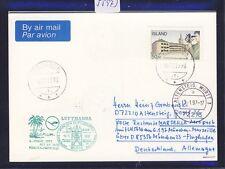 55973) LH FF München - Marseille France 6.1.97, Karte ab Island