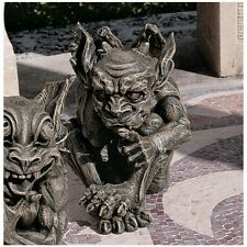 Gothic Impish Gargoyle Shhh It's a Secret Sculpture Medieval Statue