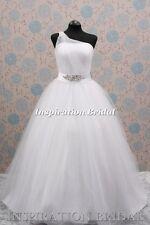 1349 Wedding dress dresses bridal gown one shoulder princess UK dress maker