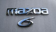 2006 MAZDA 6 MAZDA6 REAR TRUNK EMBLEM DECAL LOGO CHROME 03 04 05 06 07 08