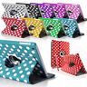 Polka Degree 360 Rotating Smart Pu Leather Stand Case Cover For Apple iPad 2 3 4