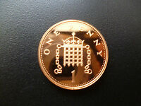 1999 PROOF ONE PENCE PIECE CAPSULED, 1999 ROYAL MINT PROOF 1P COIN CAPSULED.