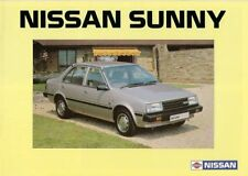 Nissan sunny 1983-84 uk market sales brochure 1.3 1.5 dx sgl saloon coupe estate