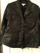 NWT $99 COLDWATER CREEK METALLIC PEWTER EMBROIDERED RIDING JACKET COAT 14