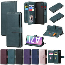 New 10 Card Wallet Flip Antislip Classic Leather Phone Case Cover For Samsung