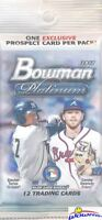2017 Bowman Platinum EXCLUSIVE JUMBO FAT Factory Sealed PACK- BLUE PROSPECT Card