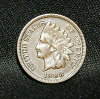 1908S INDIAN HEAD PENNY WITH VF DETAILS (B)
