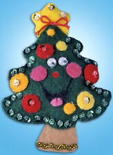 Felt Embroidery Kit ~ Design Works Christmas Tree Holiday Ornament #DW576