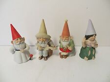 4 Unieboek Gnomes Of The World Gnome Figurine Royal Cornwall Lot Of 4