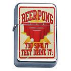 Vintage Poster D242 Windproof Dual Flame Torch Lighter Beer Pong Sink it Drink