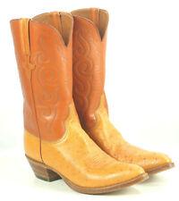 Lucchese Classics Vintage 1989 Ostrich Cowboy Boots Original Box Men's 11.5 B