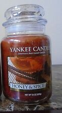 Yankee Candle  Honey & Spice 22 oz. 1 Single  NEW  New Fall Scent  Free Ship.