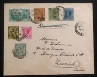 1931 Monaco cover To Federal Bank In Zurich Switzerland